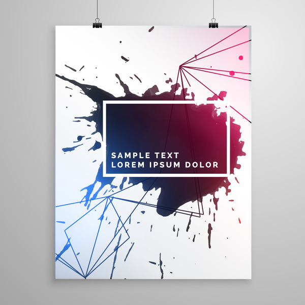 black ink grunge cover template vector 01 free download
