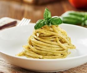 Black pepper pasta Stock Photo