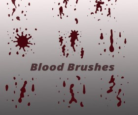Blood drop photoshop brushes