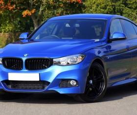 Blue BMW Stock Photo