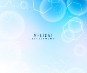 Blue medical background modern vector