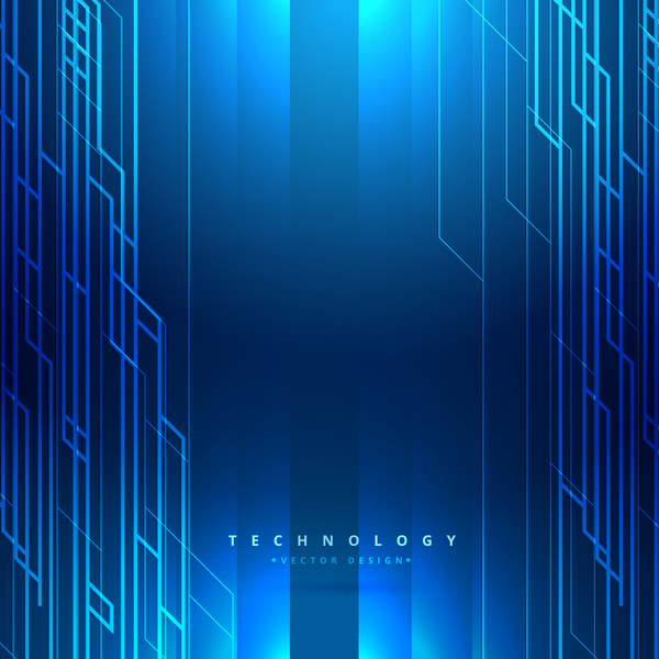 blue tech background template vector 02 free download