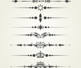 Borderline ornaments retro vector 02