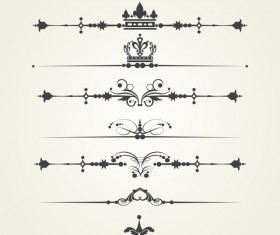 Borderline ornaments retro vector 04