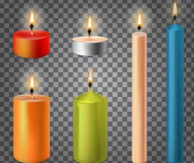 Burning candle illustration vector 02