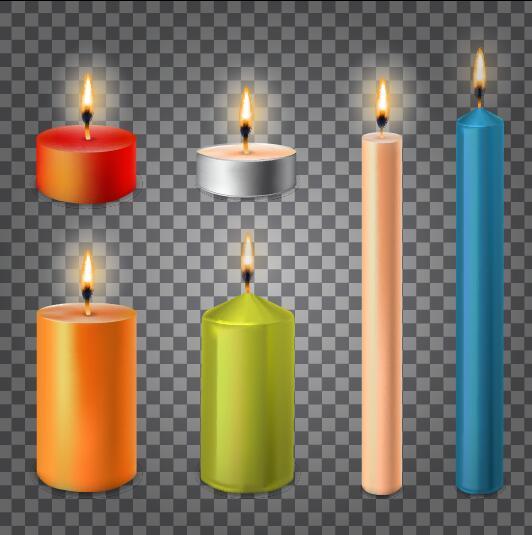 Burning candle illustration vector 02