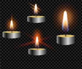 Burning candle illustration vector 03