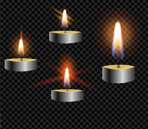 Burning candle illustration vector 03