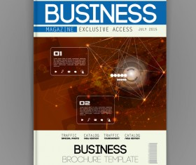 Business brochure template cover design vector 03