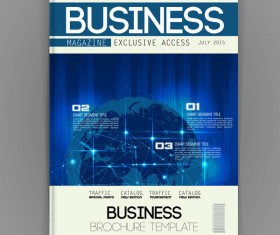 Business brochure template cover design vector 05