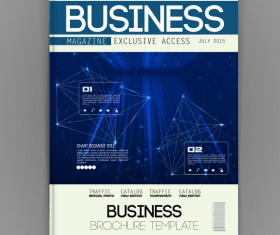 Business brochure template cover design vector 07