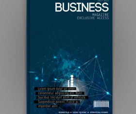 Business brochure template cover design vector 14