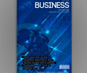 Business brochure template cover design vector 16
