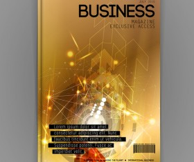 Business brochure template cover design vector 17