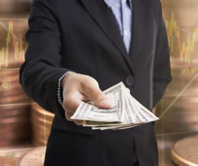 Cash transactions Stock Photo 02