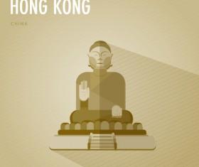 China Hong Kond monuments vector