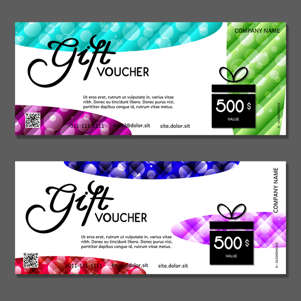 Christmas gift box with vouchers vector 02