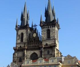 Church of Prague Stock Photo
