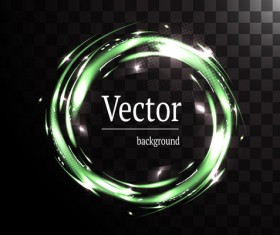 Circle light effect illustration vector 02