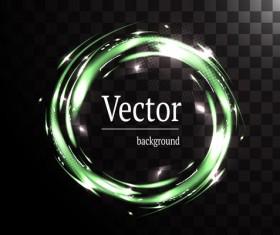 Circle light effect illustration vector 02