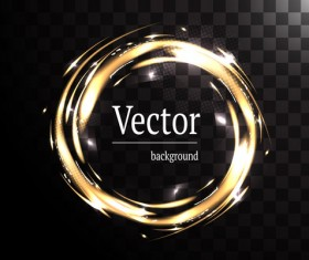 Circle light effect illustration vector 03