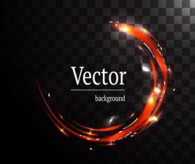 Circle light effect illustration vector 05