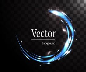 Circle light effect illustration vector 06