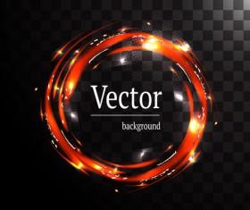 Circle light effect illustration vector 07