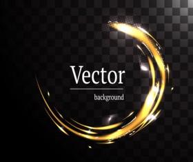 Circle light effect illustration vector 08