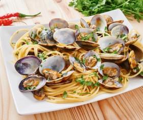 Clam noodles HD picture