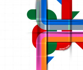 Color curve abstract vector background 01