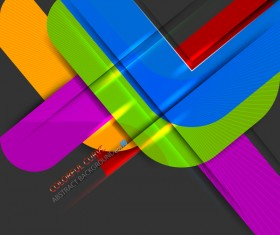 Color curve abstract vector background 03