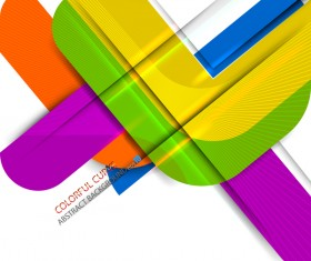 Color curve abstract vector background 04