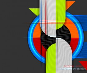 Color curve abstract vector background 05