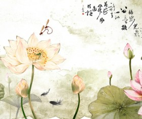 Color ink lotus HD picture