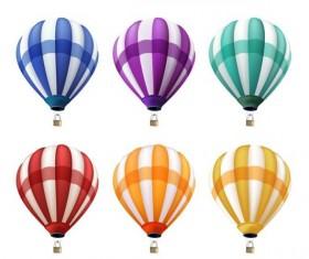 Colored air balloon vectors set 01
