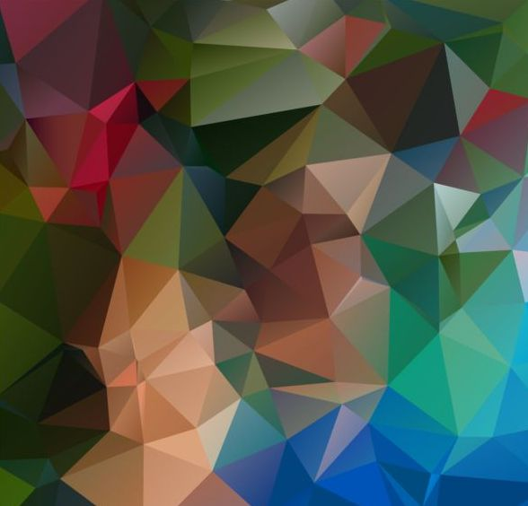 Colored polygon geometric background vector 04