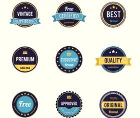 Colored retro badge vectors