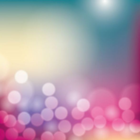 Colorful blurred background with halation effect vector 04