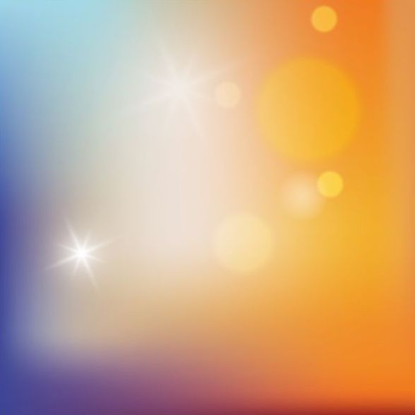 Colorful blurred background with halation effect vector 05