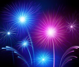 Colorful festival fireworks effect vector material 10