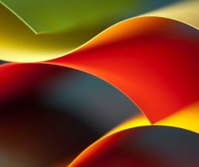 Colorful origami pattern made of curved sheets of paper 10