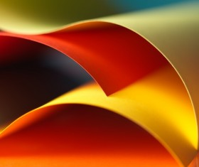 Colorful origami pattern made of curved sheets of paper 17