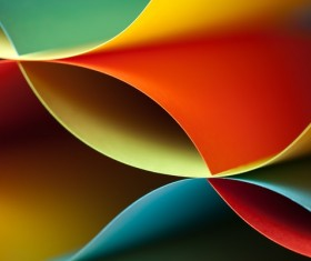 Colorful origami pattern made of curved sheets of paper 21
