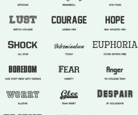 Commonly free fonts pack