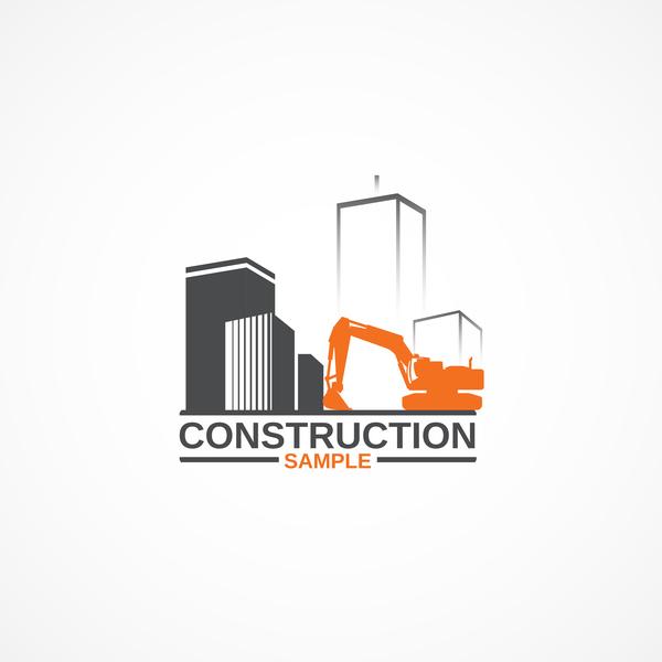 Construction sample logo design vector