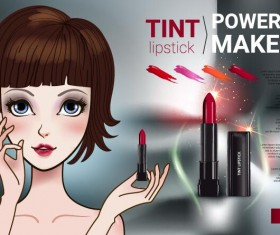 Cosmetics advertising template vectors 04