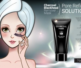 Cosmetics advertising template vectors 05