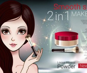 Cosmetics advertising template vectors 06