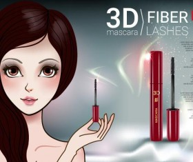 Cosmetics advertising template vectors 08
